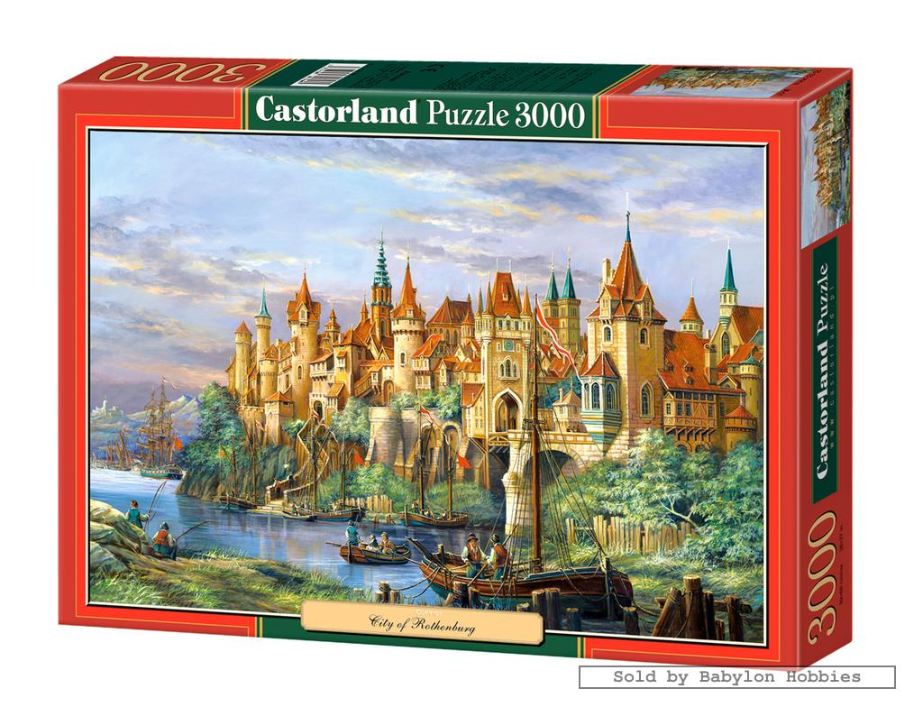 3000 pcs jigsaw puzzle city of rothenburg by castorland. Black Bedroom Furniture Sets. Home Design Ideas