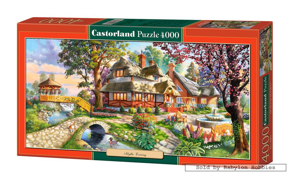4000 pcs jigsaw puzzle panorama idyllic evening art castorland 400072 ebay. Black Bedroom Furniture Sets. Home Design Ideas