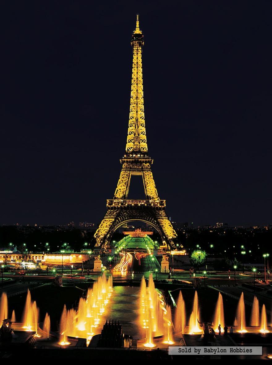 1000 pcs jigsaw puzzle neon eiffel tower paris france educa 10114 ebay. Black Bedroom Furniture Sets. Home Design Ideas