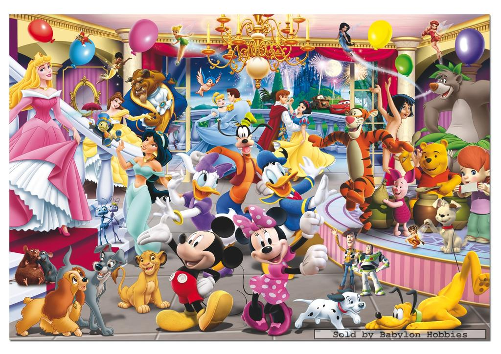 picture 1 of EDUCA 1000 st legpuzzel: Disney Family - Disney & Pixar Party (14074)