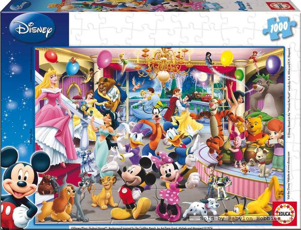 picture 2 of EDUCA 1000 st legpuzzel: Disney Family - Disney & Pixar Party (14074)