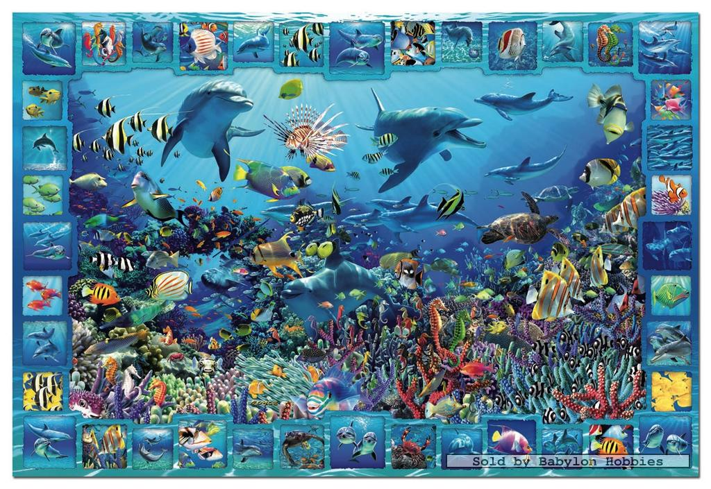 5000 pcs jigsaw puzzle dolphin kingdom by educa 14828. Black Bedroom Furniture Sets. Home Design Ideas