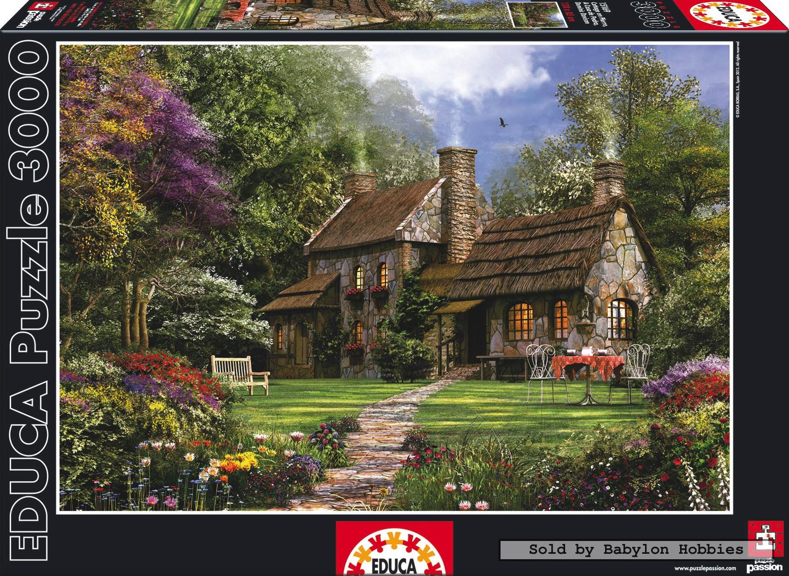 3000 pcs jigsaw puzzle genuine flint cottage d davison art educa 15169 ebay. Black Bedroom Furniture Sets. Home Design Ideas
