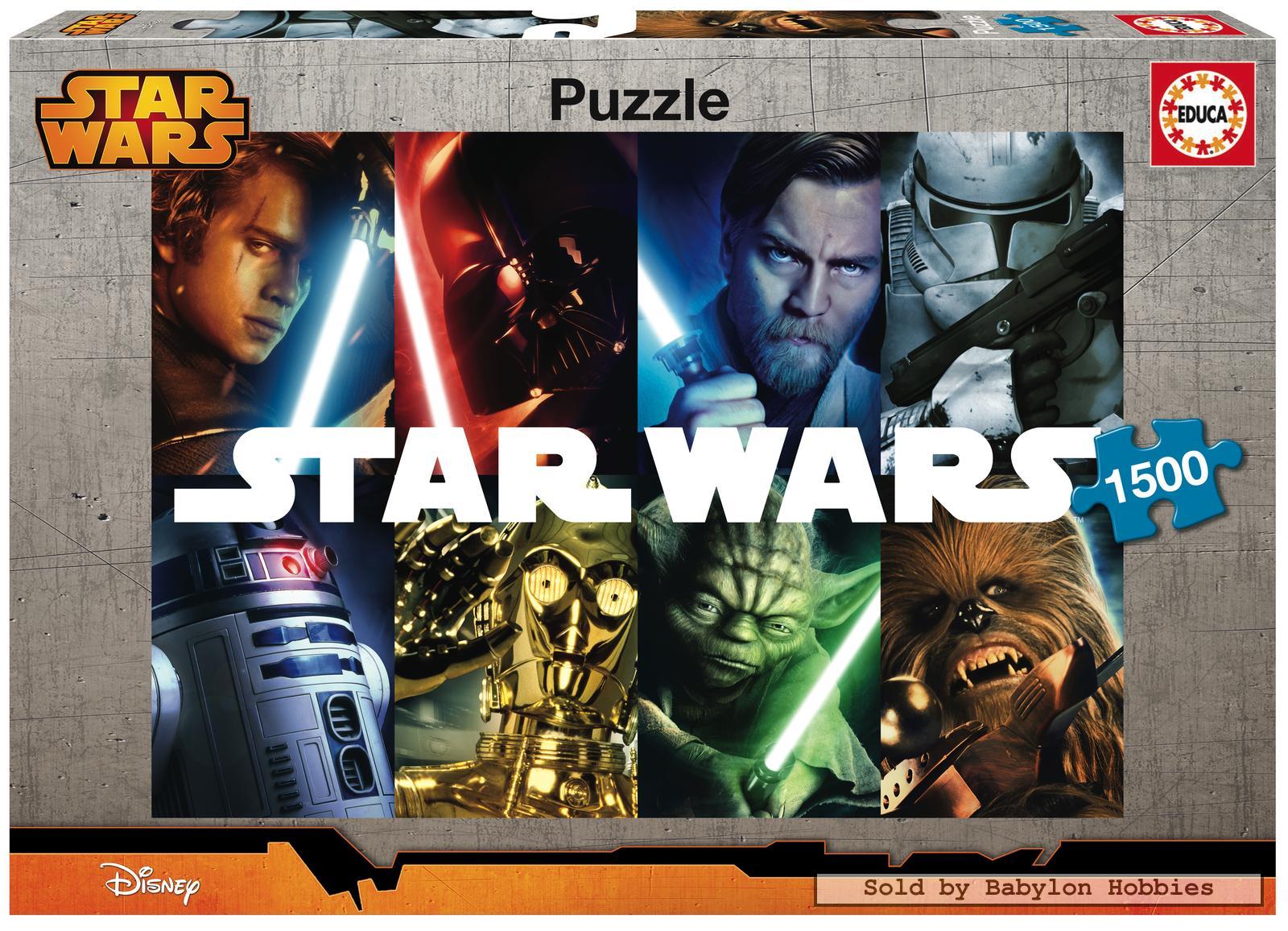 1500 pcs jigsaw puzzle star wars star wars legends educa 16312 ebay. Black Bedroom Furniture Sets. Home Design Ideas