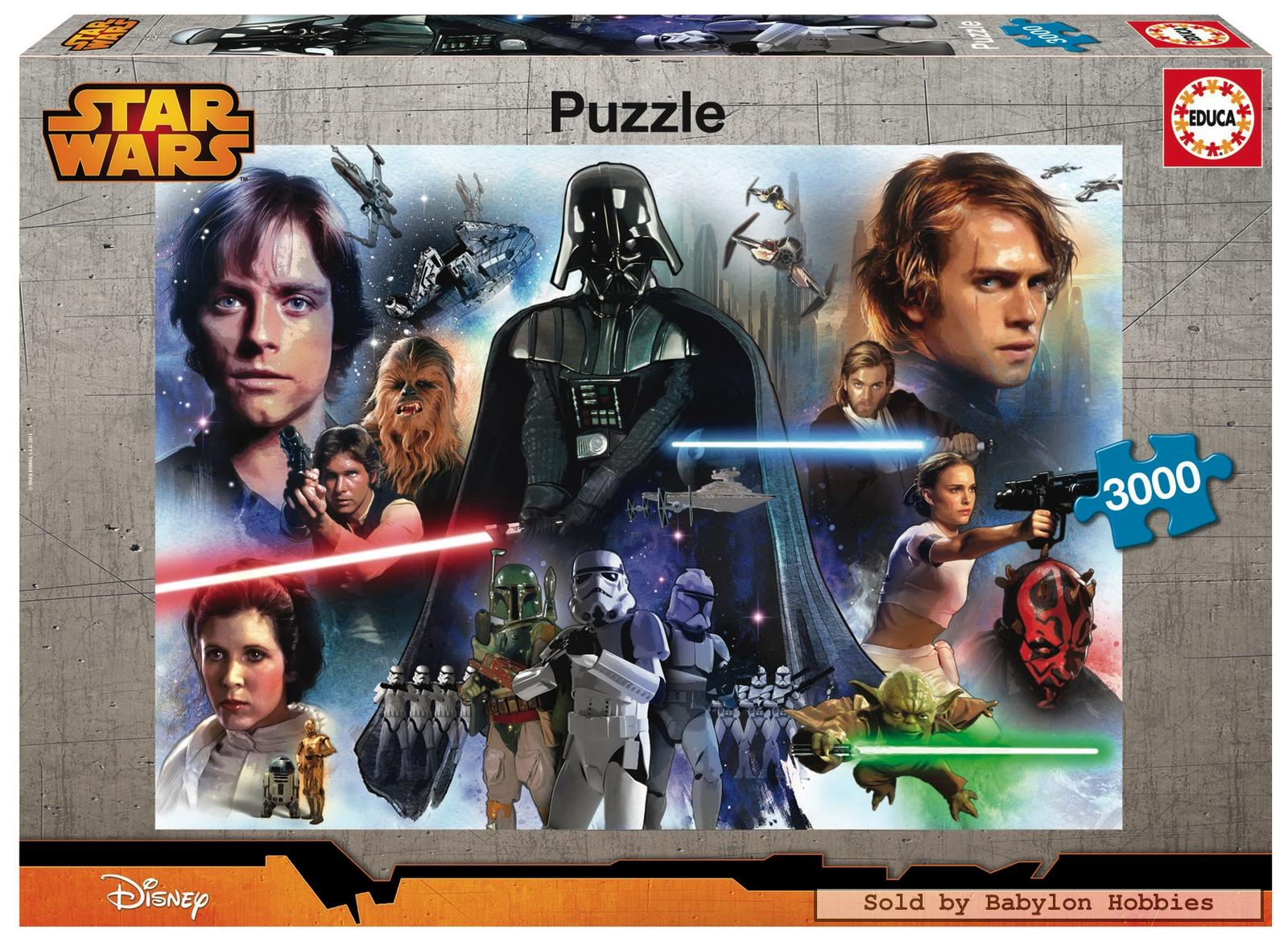 3000 pcs jigsaw puzzle star wars star wars educa 16321 ebay. Black Bedroom Furniture Sets. Home Design Ideas