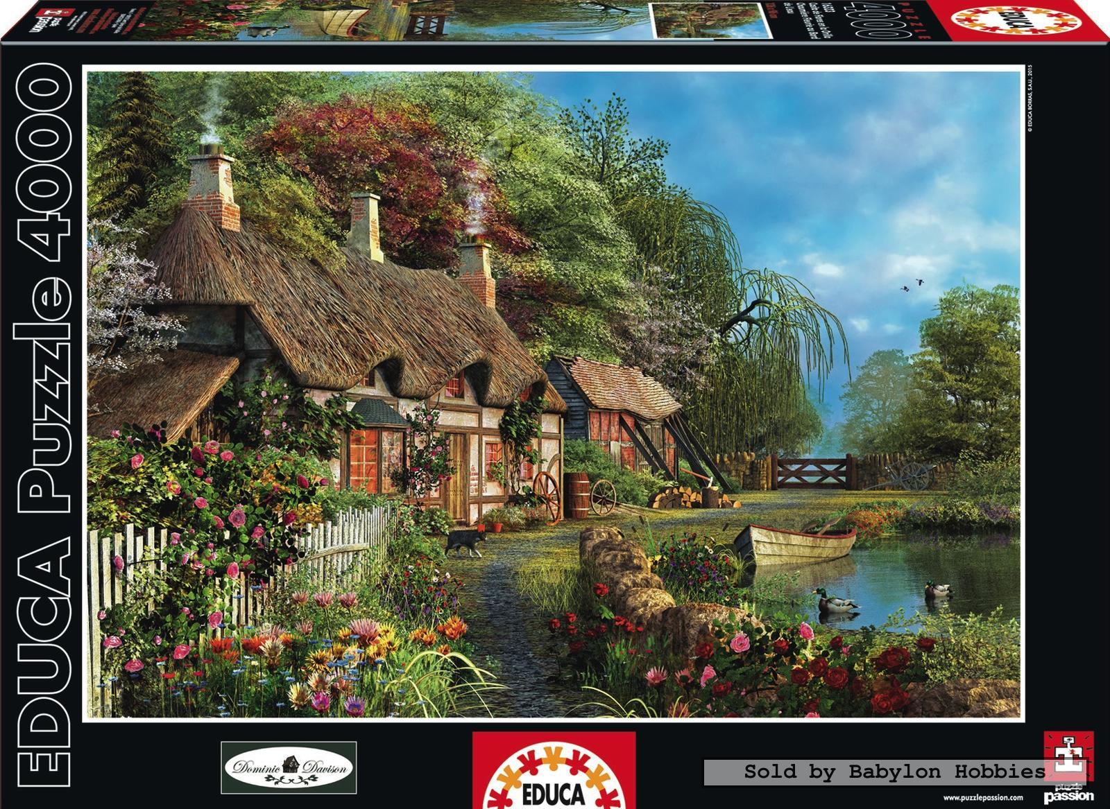 4000 pcs jigsaw puzzle riverside home in bloom art educa 16323 ebay. Black Bedroom Furniture Sets. Home Design Ideas