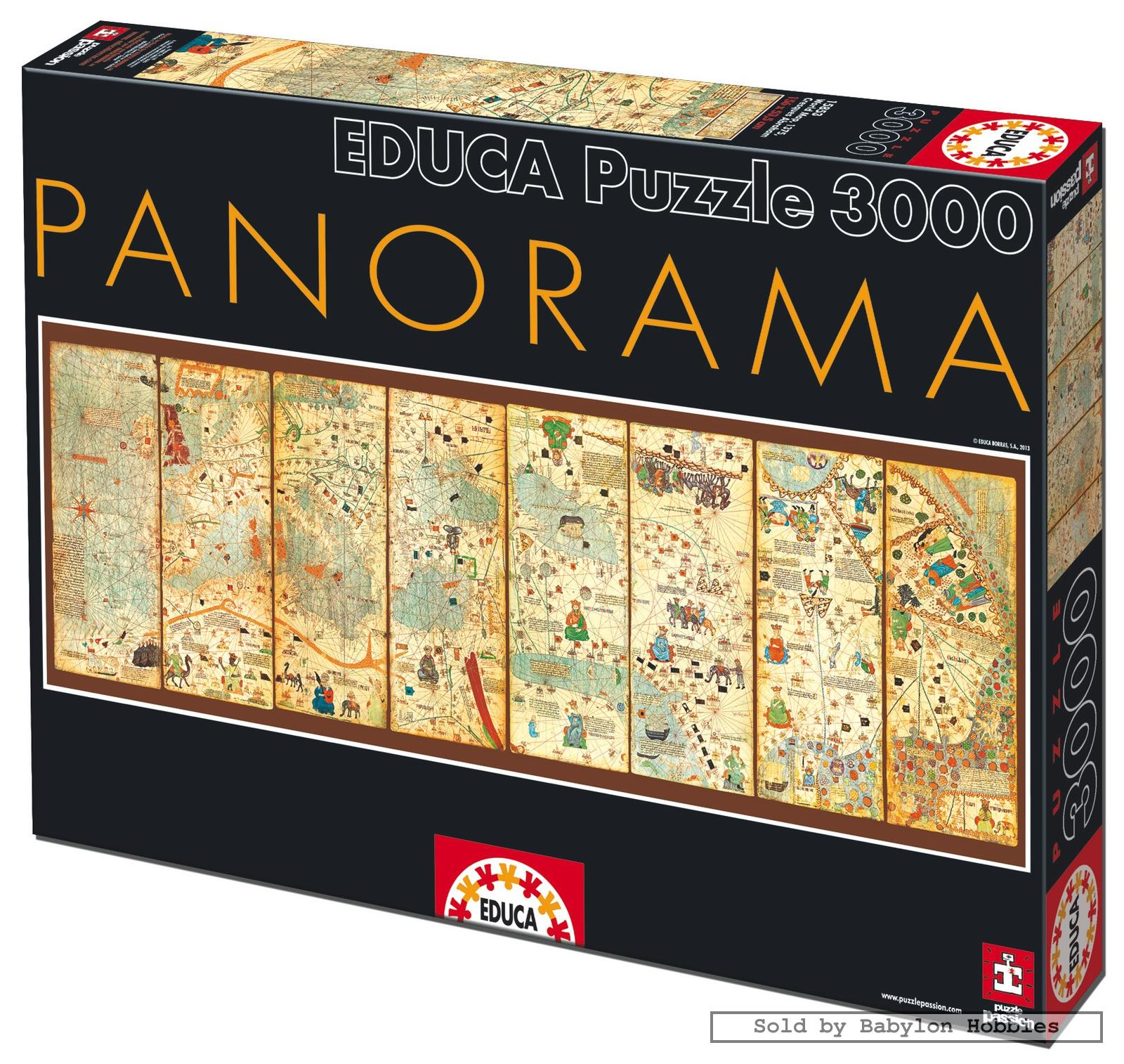 3000 pcs jigsaw puzzle panorama map of the world 1375 maps educa 16355 ebay. Black Bedroom Furniture Sets. Home Design Ideas
