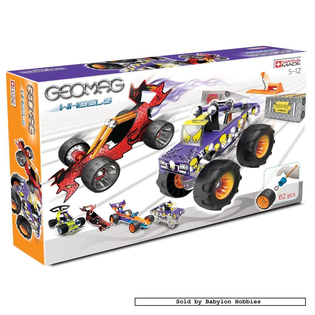 picture 1 of Geomag Wheels - Race Set - 62 parts (by Geomag) 00704