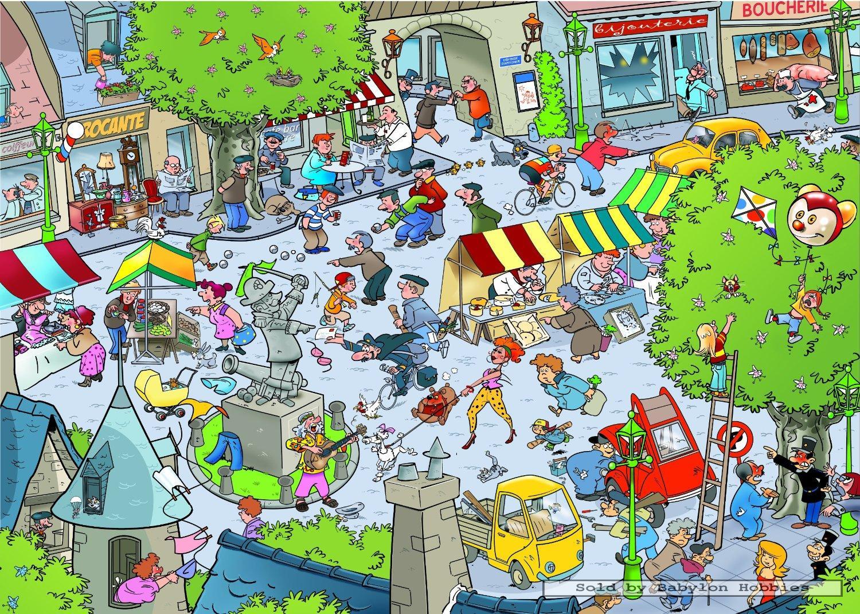 1000 pcs jigsaw puzzle: That's Life - Village (Goliath ...