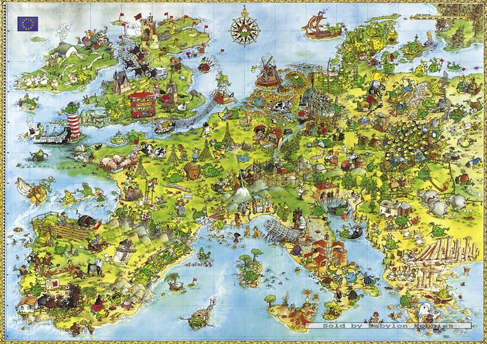4000 pcs jigsaw puzzle degano united dragons of europe. Black Bedroom Furniture Sets. Home Design Ideas