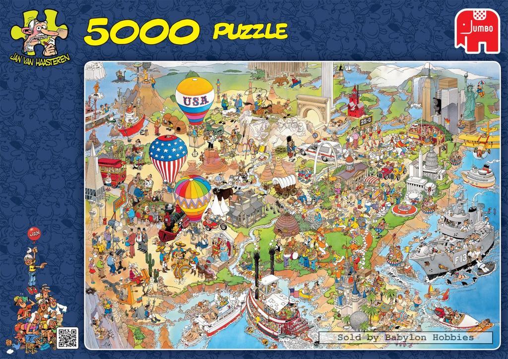 5000 pcs jigsaw puzzle jan van haasteren usa cartoon. Black Bedroom Furniture Sets. Home Design Ideas
