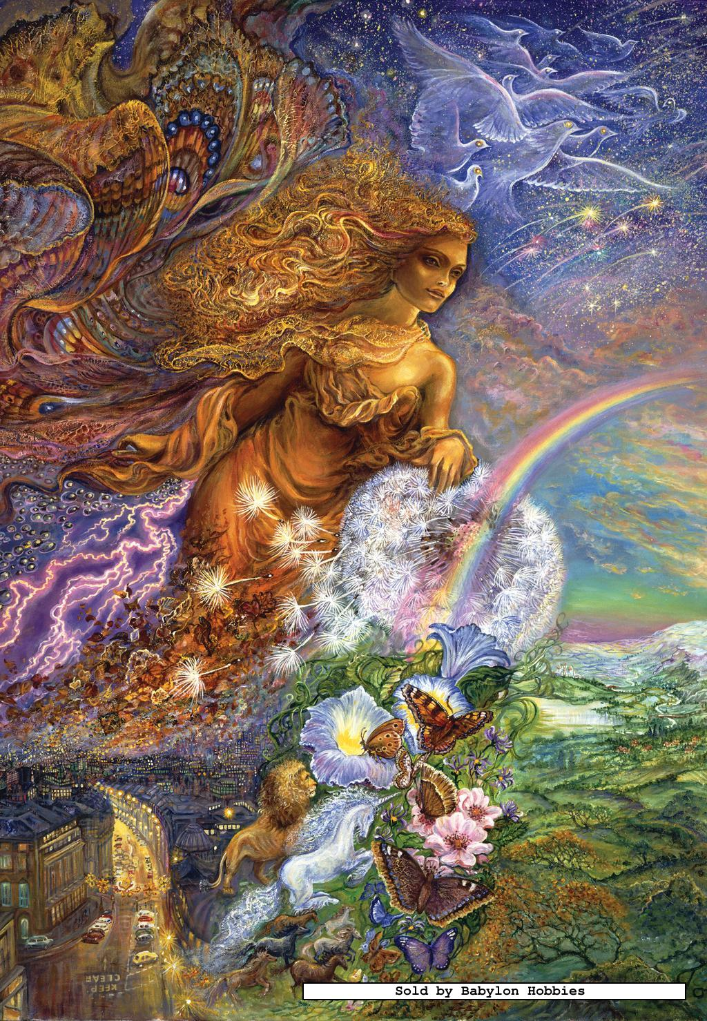 500 pcs jigsaw puzzle josephine wall wind of change glow in the dark ebay. Black Bedroom Furniture Sets. Home Design Ideas
