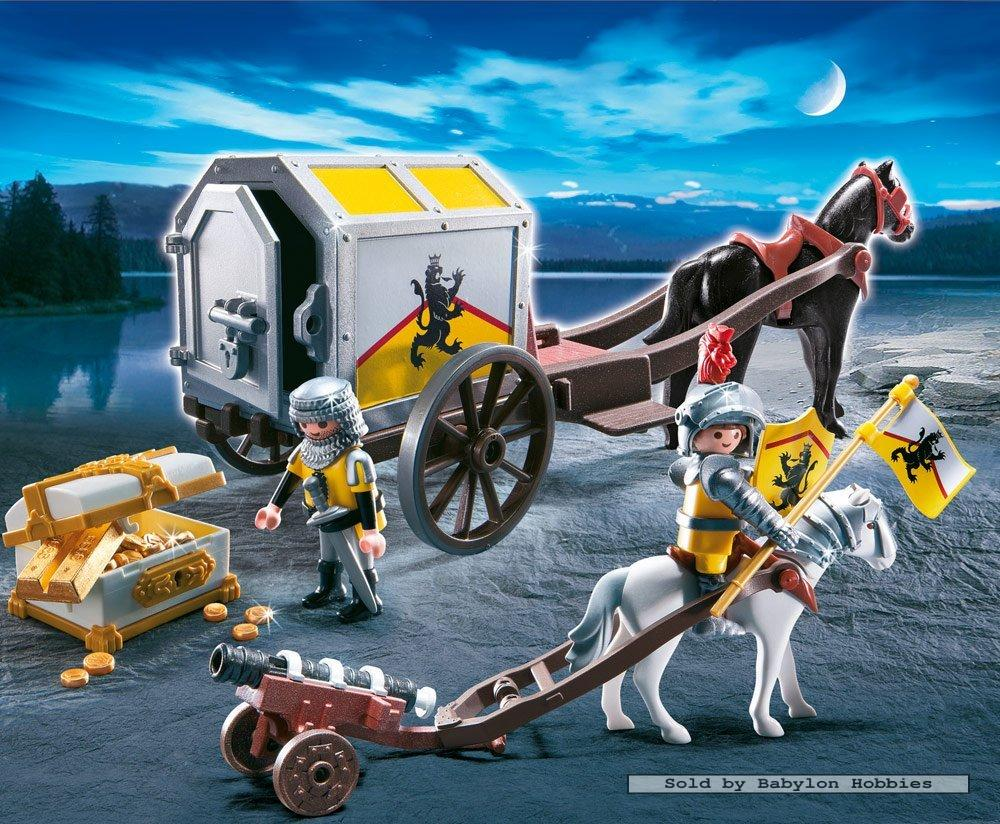 Playmobil knights lion knight 39 s treasure transport by for Playmobil caballeros