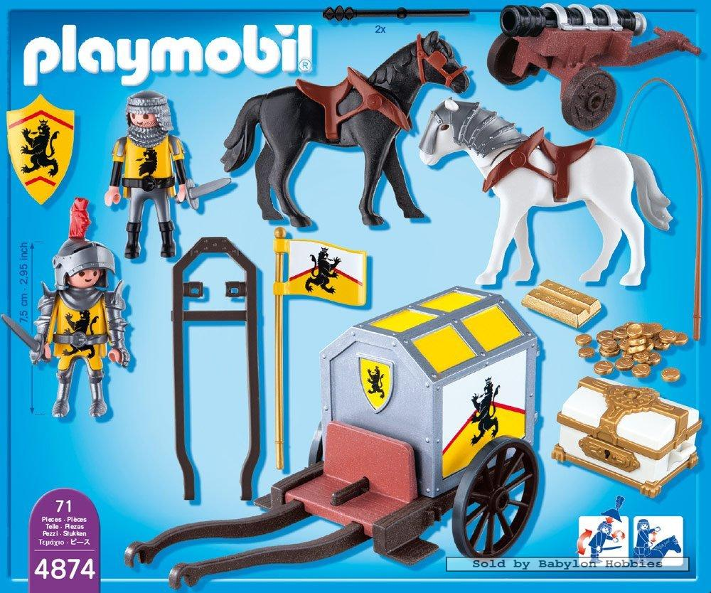 Playmobil knights lion knight 39 s treasure transport by for Kutsche playmobil