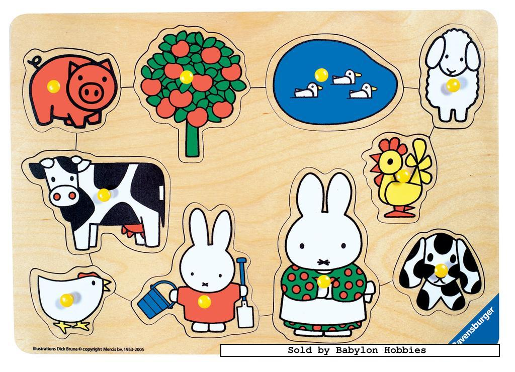 picture 1 of 10 pieces jigsaw puzzle: Miffy - Farm Animals (by Ravensburger) 033058