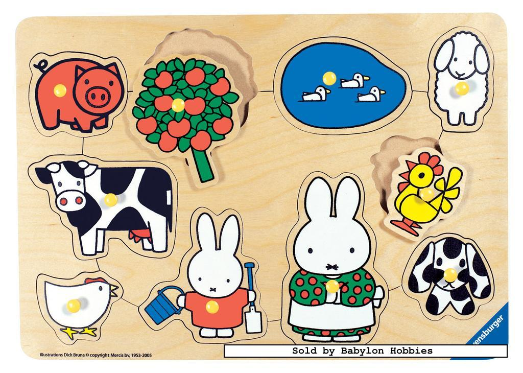 picture 2 of 10 pieces jigsaw puzzle: Miffy - Farm Animals (by Ravensburger) 033058