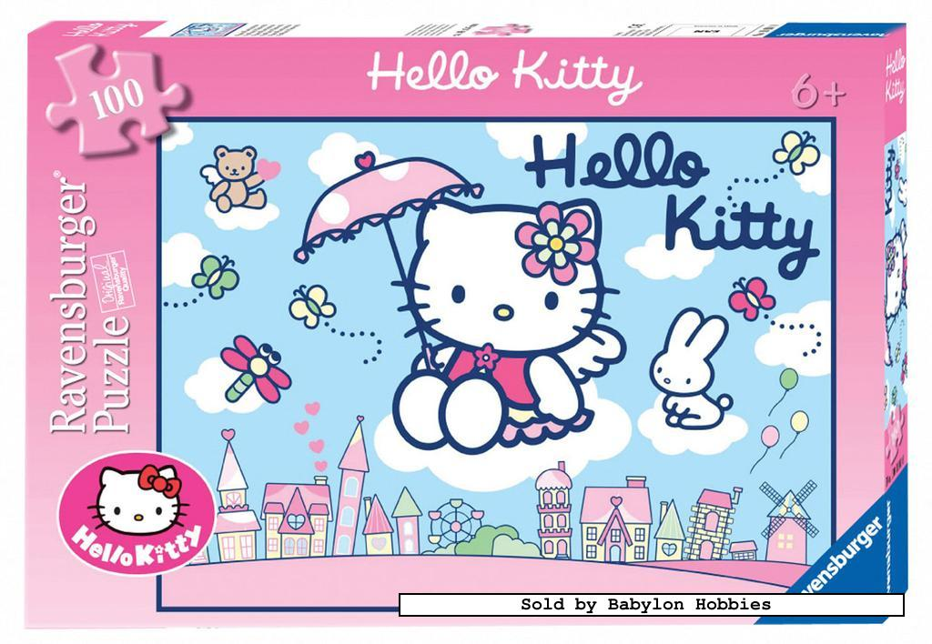 picture 1 of 100 st legpuzzel: Hello Kitty - Hello Kitty (door Ravensburger) 108015