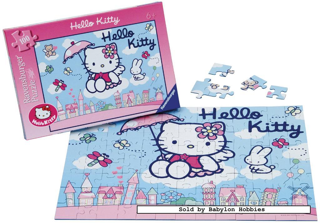 picture 2 of 100 st legpuzzel: Hello Kitty - Hello Kitty (door Ravensburger) 108015