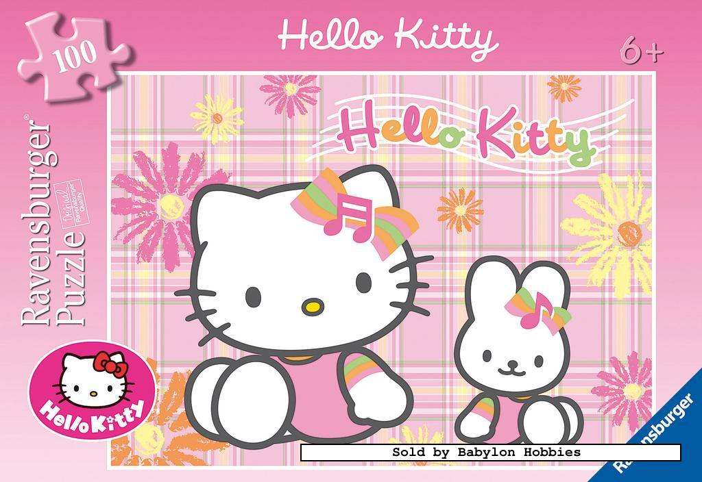 picture 1 of 100 st legpuzzel: Hello Kitty - Hello Kitty (door Ravensburger) 108930