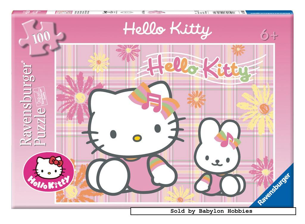 picture 2 of 100 st legpuzzel: Hello Kitty - Hello Kitty (door Ravensburger) 108930