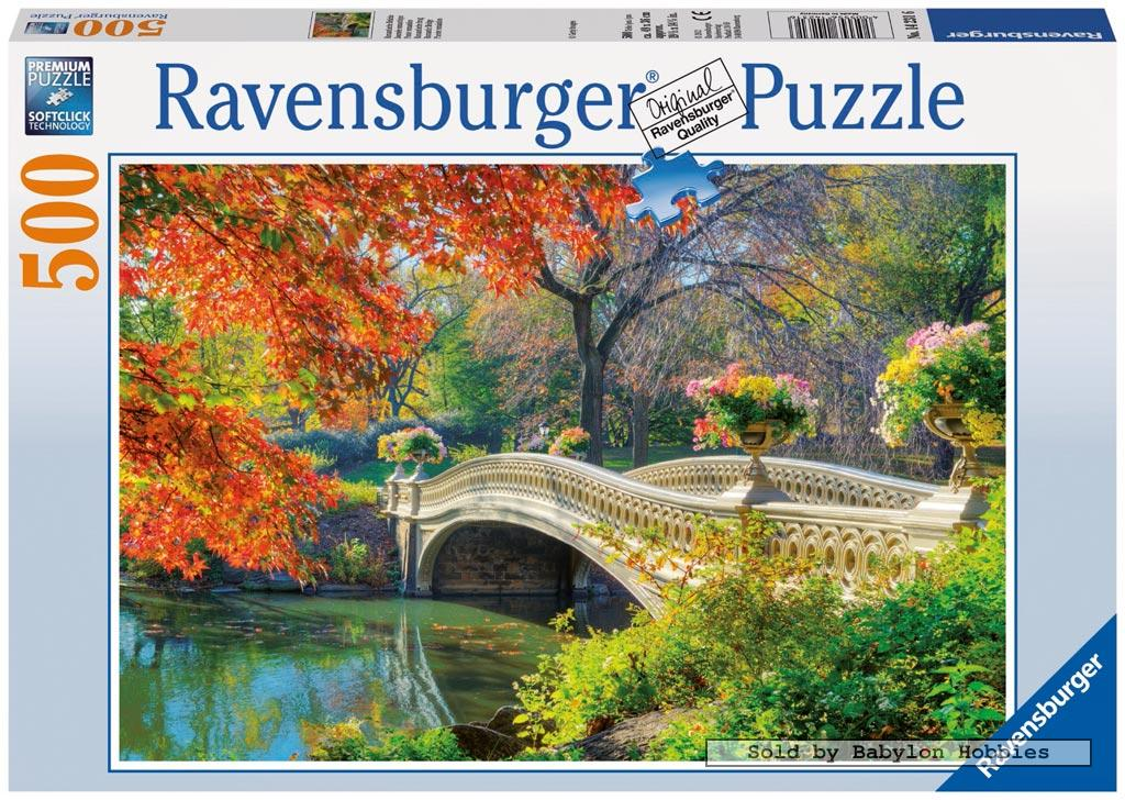 picture 2 of 500 pieces jigsaw puzzle: Romantic bridge (by Ravensburger) 142316
