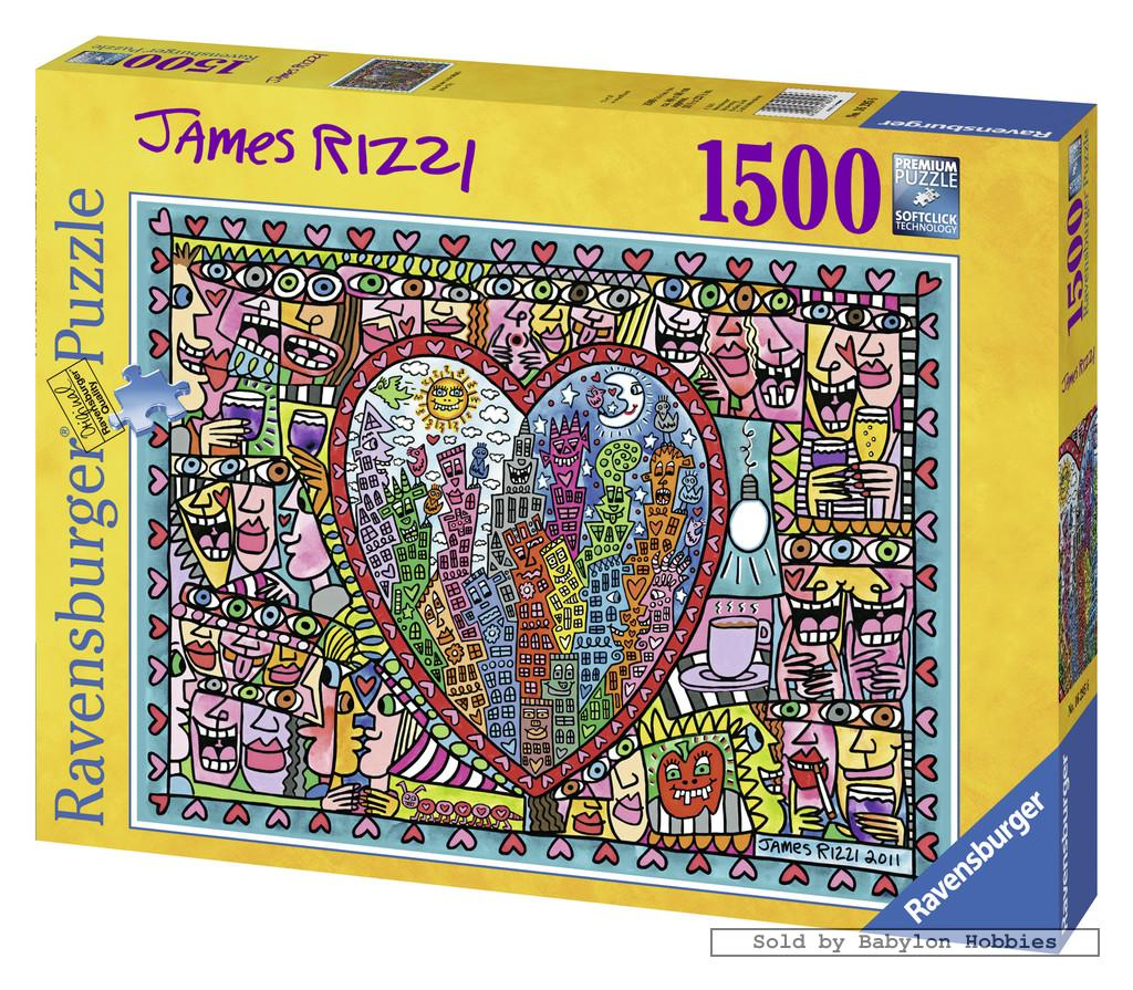 1500 pcs jigsaw puzzle james rizzi all that love. Black Bedroom Furniture Sets. Home Design Ideas