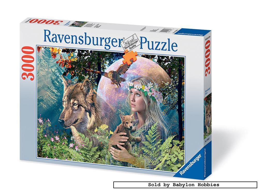 new ravensburger jigsaw puzzle 3000 pcs lady of the forest 170333 ebay. Black Bedroom Furniture Sets. Home Design Ideas