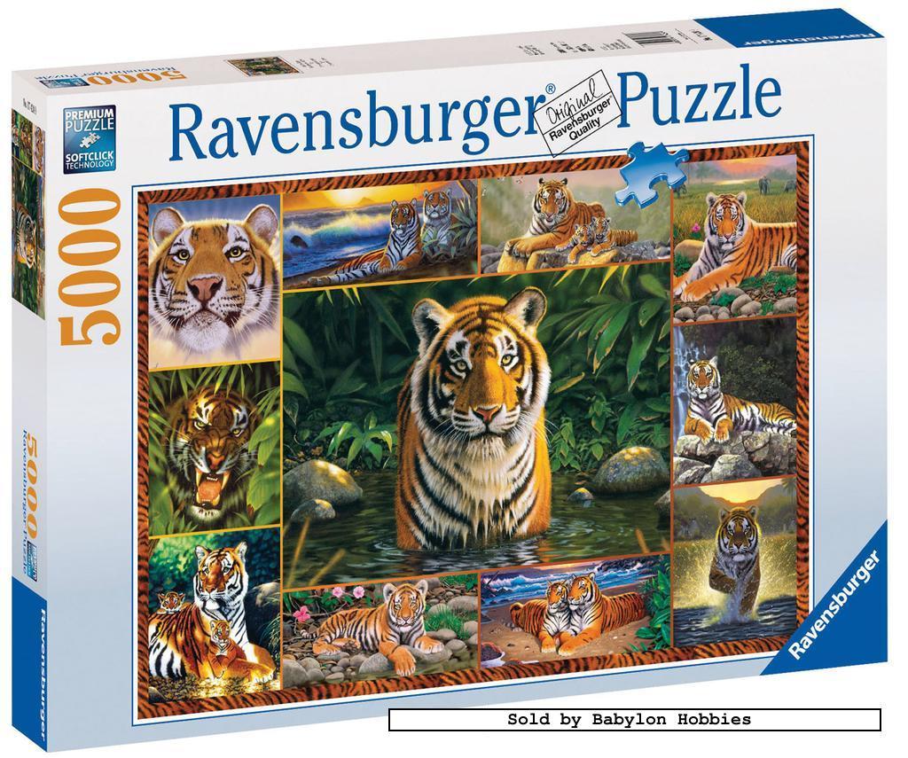 New ravensburger jigsaw puzzle 5000 pcs tiger paradise for Custom 5000 piece puzzle