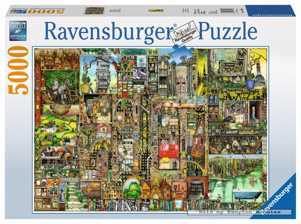 5000 pcs jigsaw puzzle colin thompson bizarre city art. Black Bedroom Furniture Sets. Home Design Ideas