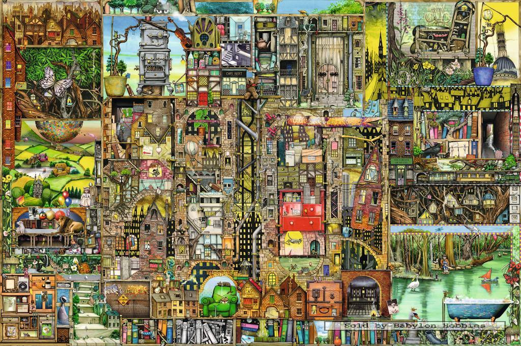 5000 pcs jigsaw puzzle colin thompson bizarre city art for Custom 5000 piece puzzle