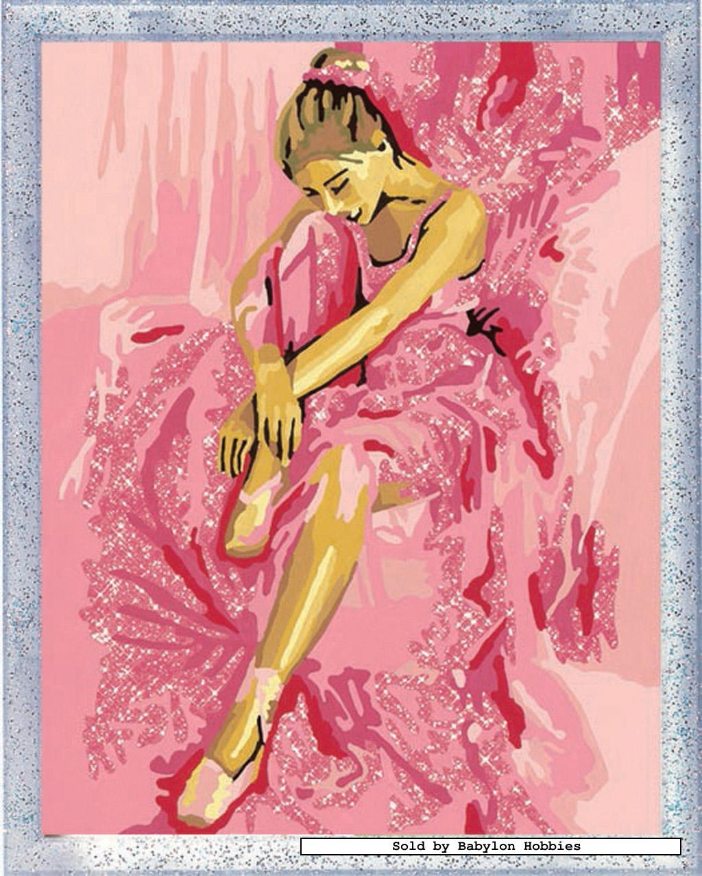 schilderen op nummer dromende ballerina door ravensburger 281480 ebay. Black Bedroom Furniture Sets. Home Design Ideas
