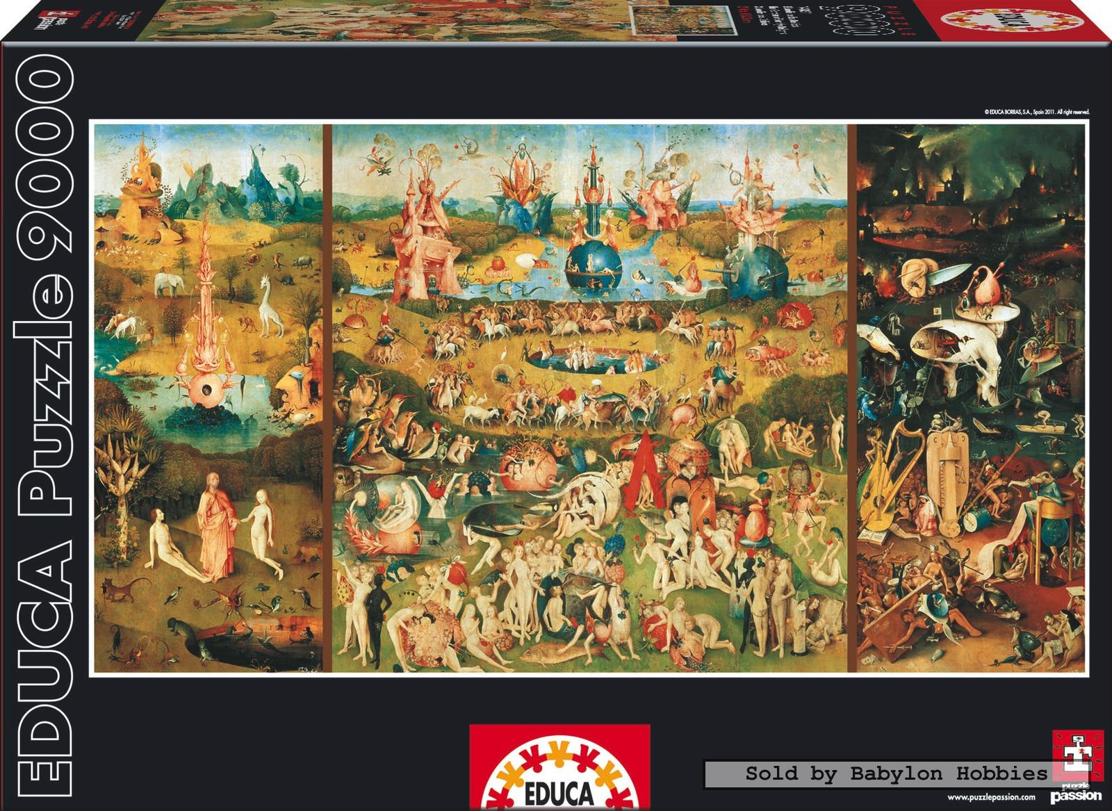 Picture 1 Of 9000 Pieces Jigsaw Puzzle: Bosch   The Garden Of Earthly  Delights ...
