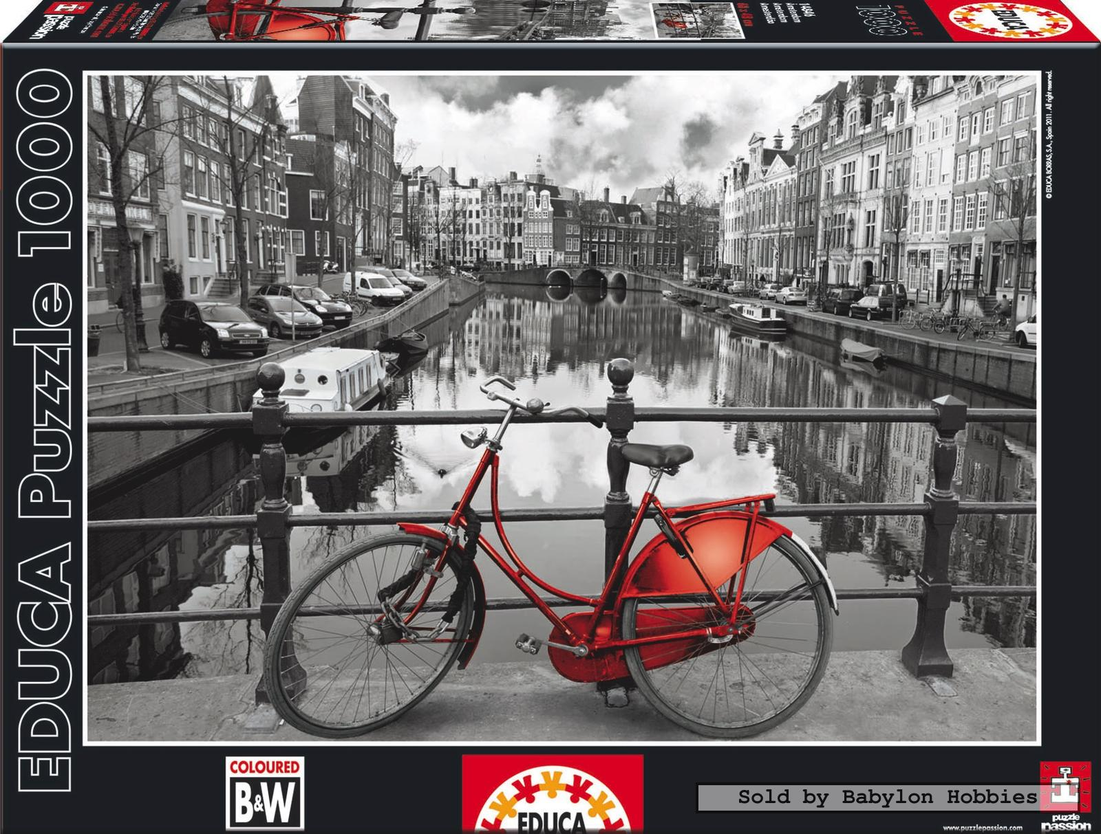 Details about 1000 pcs jigsaw puzzle: Black and White - Amsterdam  Netherlands (Netherlands)