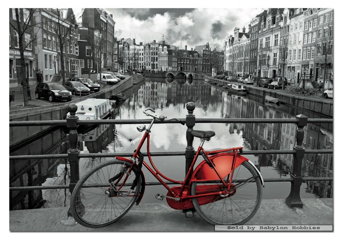 Bedwelming 1000 st puzzel: Zwart-wit - Amsterdam Nederland (Nederland) (EDUCA #MA07