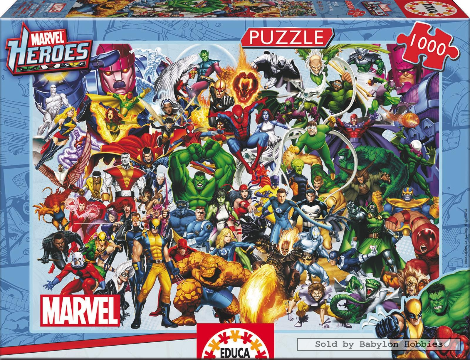 Picture 1 Of 1000 Pieces Jigsaw Puzzle Marvel