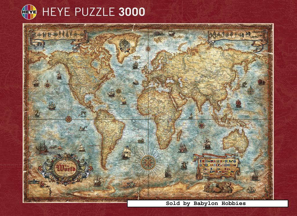 3000 pcs jigsaw puzzle the world maps heye 29275 ebay picture 2 of 3000 pieces jigsaw puzzle the world by heye 29275 gumiabroncs Gallery