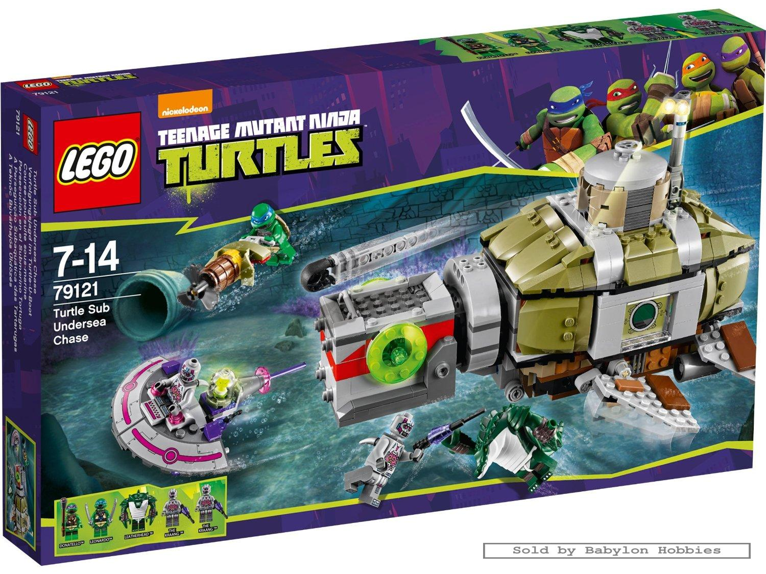 Lego TMNT #79121 Turtle Sub Undersea Chase Building Toy Set