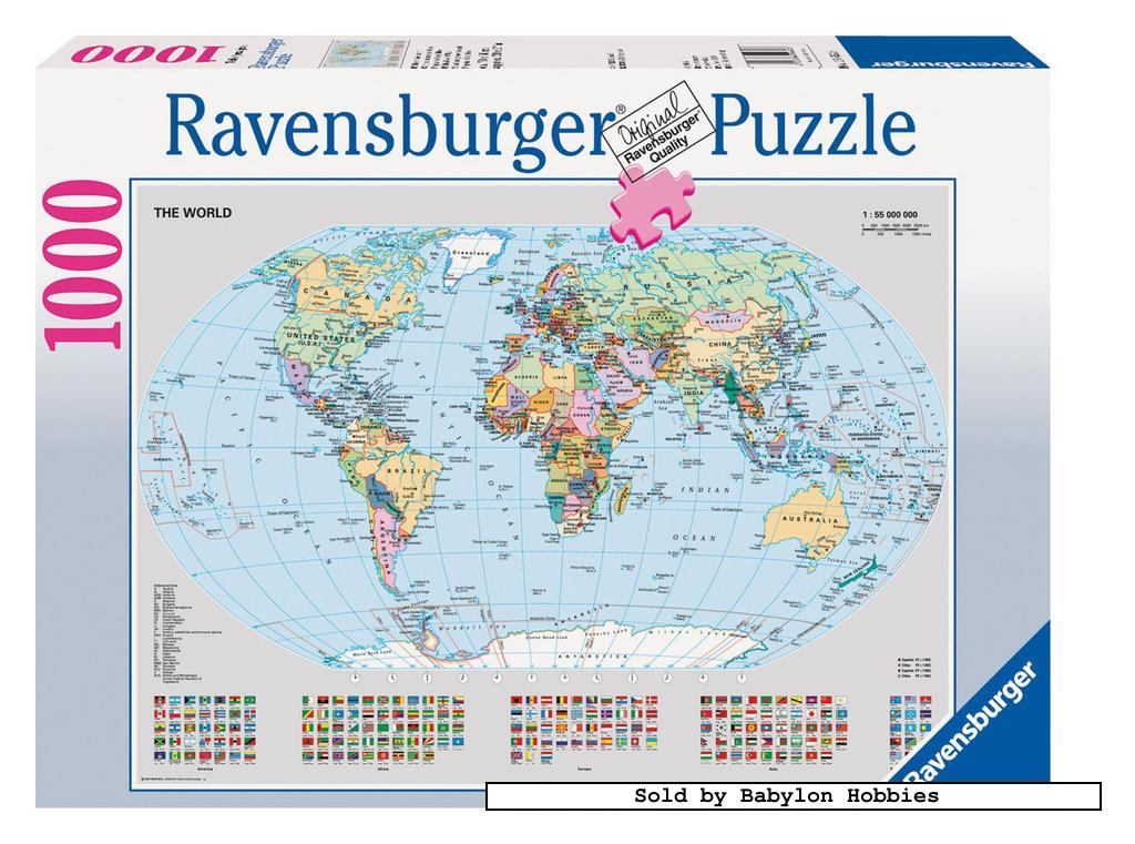 1000 pcs jigsaw puzzle Political World Map Original Maps