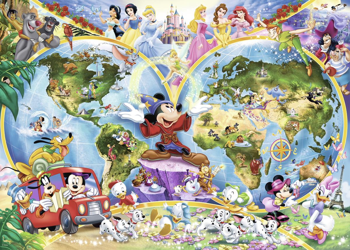 Details about 1000 pcs jigsaw puzzle: Disney\'s World Map (Original, Disney,  Maps)