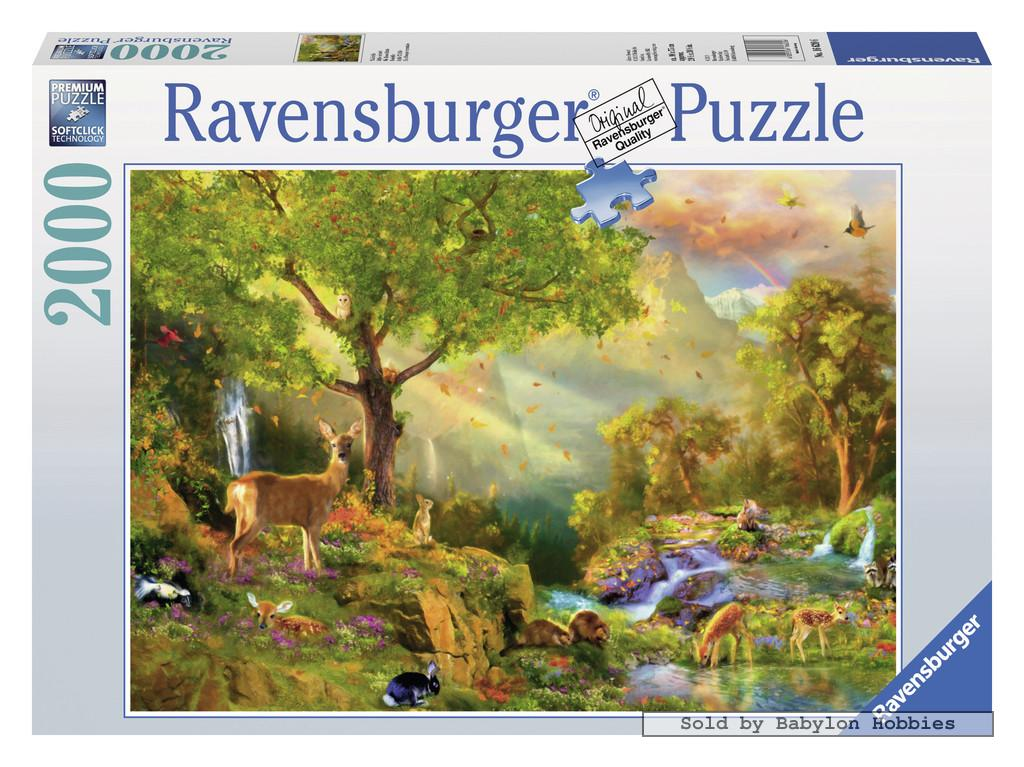 2000 pcs jigsaw puzzle magical forest animals nature. Black Bedroom Furniture Sets. Home Design Ideas