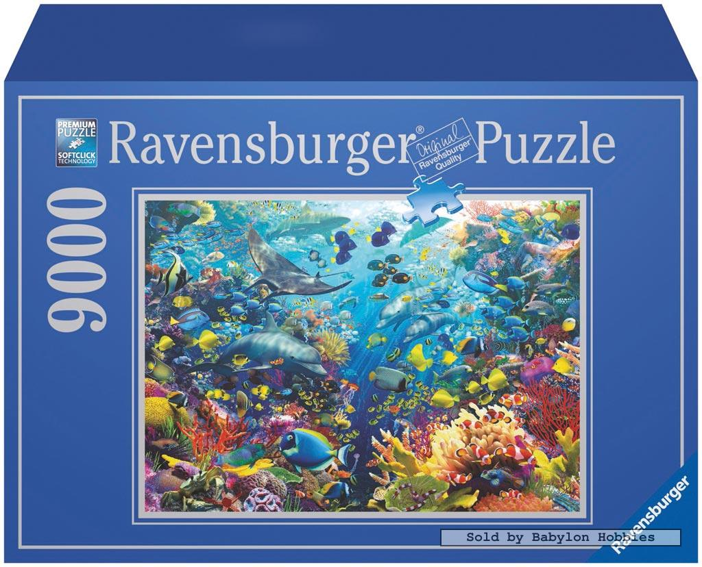 9000 pcs jigsaw puzzle underwater paradise fish sea. Black Bedroom Furniture Sets. Home Design Ideas