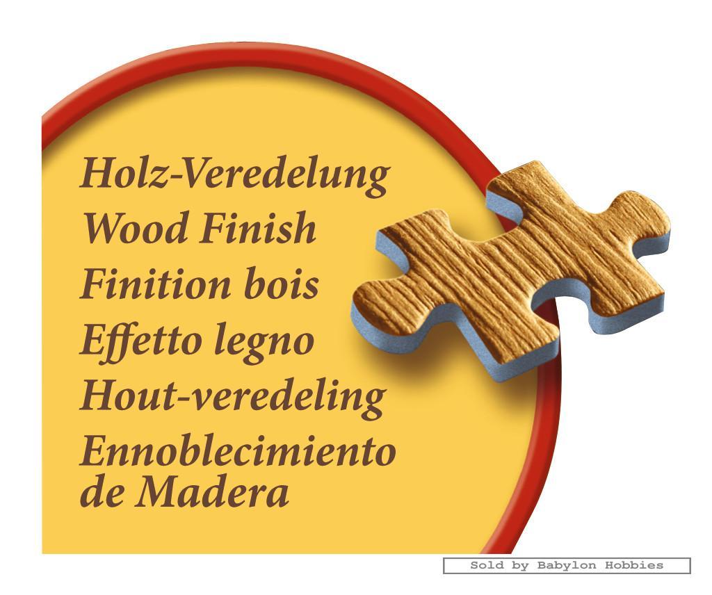 1000 Pcs Jigsaw Puzzle: Wood Finish